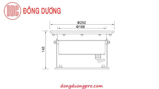 Bản vẽ kỹ thuật đèn LED âm dưới nước DDL-250G