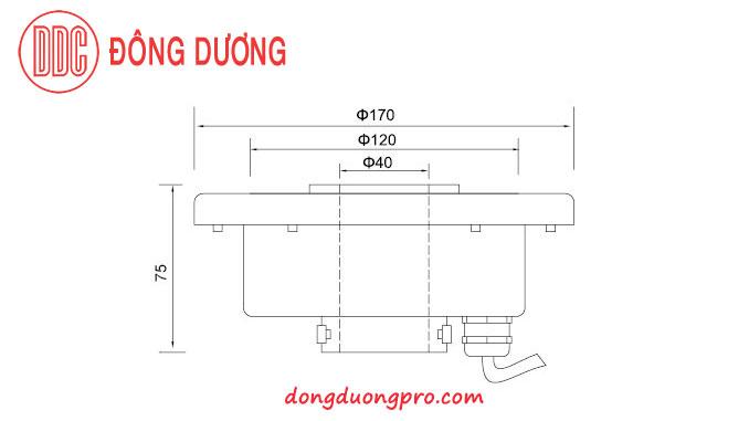 Thông số kỹ thuật đèn led dưới nước 12w, 36w  DDL-170GK