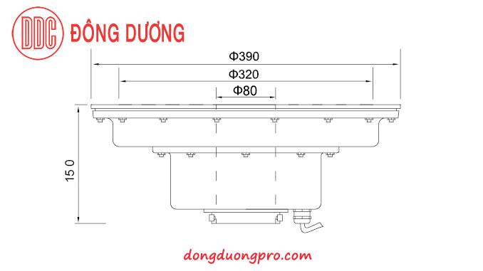 Đèn Led âm dưới nước có lổ ở tâm để đặt vòi phun - DDL-390GK